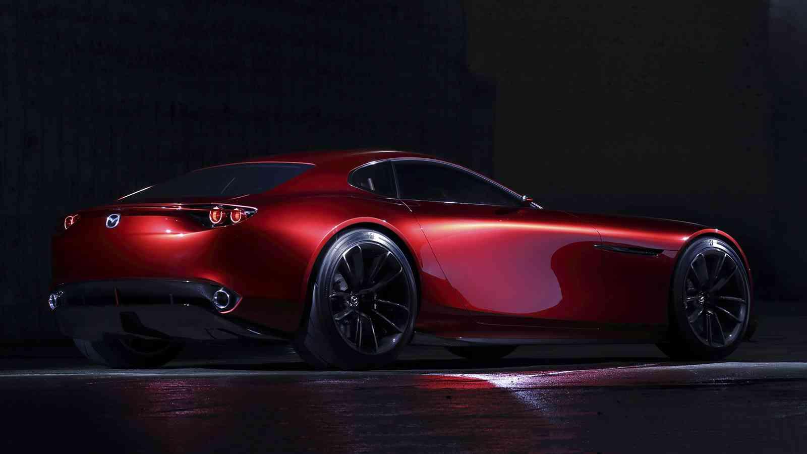 спортивный желтый автомобиль Mazda RX-Vision концепт  № 727293 загрузить