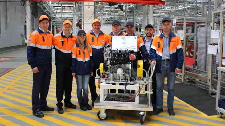 В России выпущен юбилейный двигатель Ford