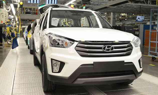 Hyundai нарастил объёмы производства в РФ в первой половине 2017 года