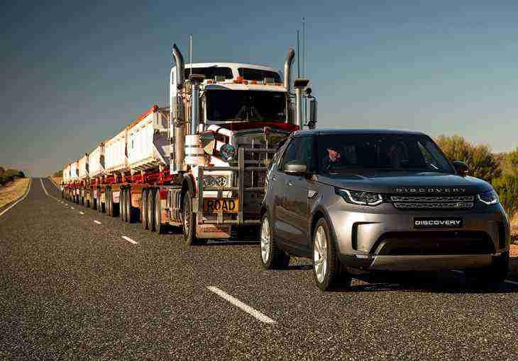 Land Rover Discovery отбуксировал 110-тонный автопоезд